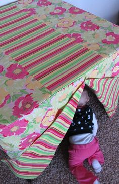 card table play tent
