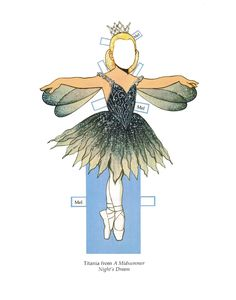 """Ballerina Fairies [or, Melissa, the Fairy Ballerina] Paper Dolls"" by Tom Tierney; Dover Publications, 1990s (3 of 10)"