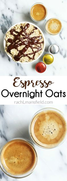 Chocolate Chip Espresso Overnight Oats for a delicious, plant-based and easy breakfast! Prep the night before and have a yummy breakfast the next morning!