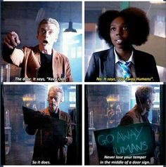 ''Go away Humans'' ; Doctor Who.08E06 - ''The Caretaker'' (Doctor Who - BBC Series)