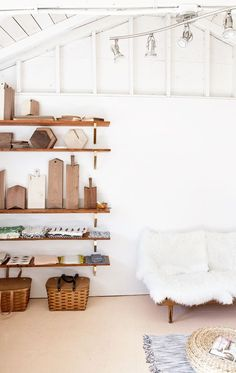 smitten studio // a sunny afternoon // diy shelves
