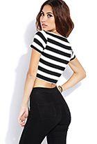 Bold Stripes Crop Top