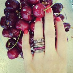 Ring diamonds cherries Anelli diamanti tutto by Nes