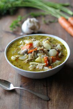 Leftover turkey soup with root vegetables  - a healthful recipe for using up your leftover turkey from the holidays