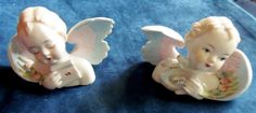 Vintage Lefton Porcelain Hand Painted Angels by HeronBlueVintage