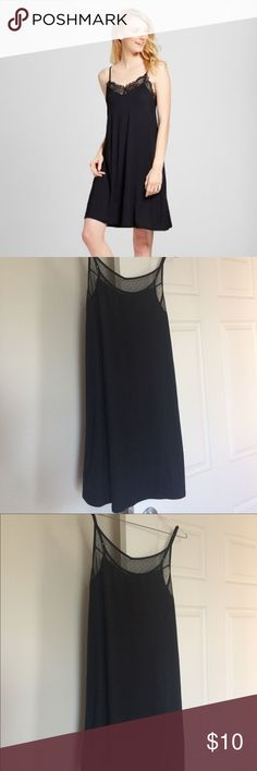 Black Nightgown Simple black nightgown with sheer neck and back details. Adjustable straps and loose casual fit (like in the stock photo) Gilligan & O'Malley Intimates & Sleepwear