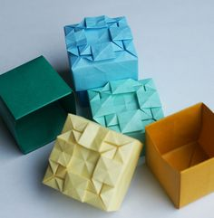 Origami Box with tessalation