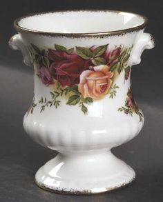 Urn Vase in the Old Country Roses pattern by Royal Albert China
