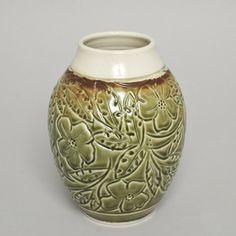 Ceramic Vase by Dan Miller (Edmonton, AB). Member of the Alberta Craft Council