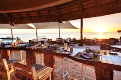 The perfect spot for sundowners: Infinity Blue Bar & Restaurant at Heritage Resorts Mauritius