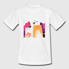 katt kids style T-skjorte barn Kids Fashion, Places, Mens Tops, T Shirt, Style, Supreme T Shirt, Swag, Tee Shirt, Junior Fashion