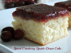 SPICED CRANBERRY UPSIDE-DOWN CAKE