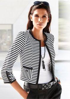 Loving this jacket - elegant and interesting.