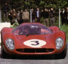 1967-Monza-330 P 4-Bandini_Amon-0856-07 Ferrari Racing, Ferrari Car, Lorenzo Bandini, Gilles Villeneuve, Vintage Racing, Courses, Le Mans, Cars And Motorcycles, Muscle Cars