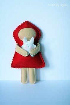 little red - would be cute to make all kinds of story book characters out of felt...