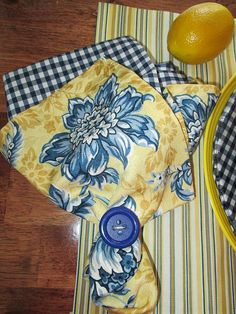 DIY Designer plates & matching napkins and placemats