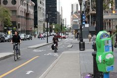 A study published in the Journal of Transport and Land Use found that intersections in Montreal with protected bike lanes see 61 percent more bike traffic than those without. Meanwhile, intersections with plain old painted bike lanes see a not-insubstantial 36 percent more cyclists. The results demonstrate a strong preference for bike infrastructure — the more separation from traffic, the better.