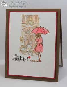 I used the Stampin' Up! Beautiful You and Mediterranean Moments stamp sets to create my card to share with you today.