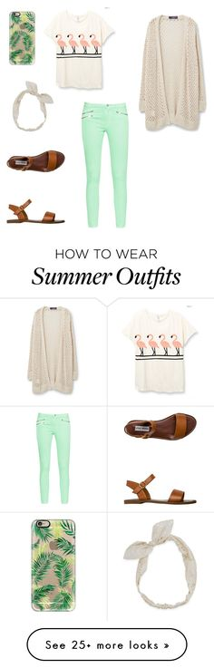 """""""Summer outfit"""" by ellielansford on Polyvore featuring French Connection, Casetify, Carole, Steve Madden and Violeta by Mango"""