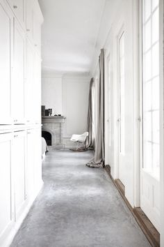 I just love the polished concrete floors and beautiful light in this villa on the outskirts of Copenhagen.