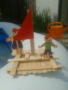 kunnen ze maken in de bouwhoek. kan ook als knutselactiviteit worden aangeboden Pirate Activities, School Age Activities, Activities For Kids, Pirate Day, Pirate Birthday, Pirate Theme, Diy For Kids, Crafts For Kids, Arts And Crafts