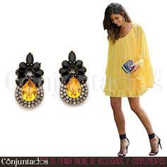 Los #pendientes Briana, un plus para mujeres con #estilo innato ★ 12,95 € en https://www.conjuntados.com/es/pendientes/pendientes-medianos/pendientes-briana-con-lagrima-ambar.html ★ #novedades #earrings #conjuntados #conjuntada #joyitas #lowcost #jewelry #bisutería #bijoux #accesorios #complementos #moda #fashion #fashionadicct #picoftheday #outfit #style #GustosParaTodas #ParaTodosLosGustos