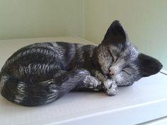 The Sleeping Cat by Yew Tree Studio Size 18cm by 13cm