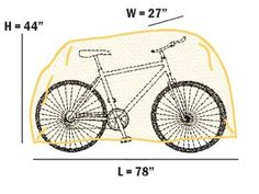 Outdoor Bicycle Storage Cover