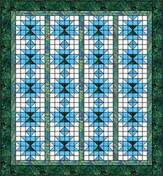 Squash Blossom Quilt Pattern. Complete instructions for constructing each block and layout for the finished quilt.