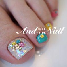 Pretty Toe Nails, Wow Nails, Cute Toe Nails, Toe Nail Art, Fancy Nails, Gorgeous Nails, Beautiful Toes, Pedicure Designs, Manicure E Pedicure