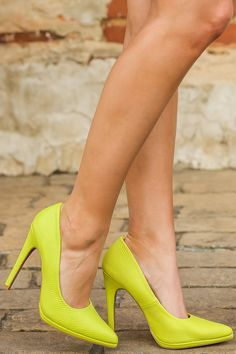 Attention Grabber Heels-Citrine | The Red Dress Boutique