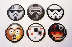 Star Wars Coasters, The Force Awakens, Pixel Art, 8 Bit, Starwars Gift, Geek Gift