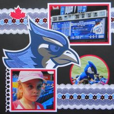 Baseball Sports page with a Blue Jay from Cricut's Team Spirit. Great masculine page. Go Jays. Scrapbooking Ideas, Scrapbook Layouts, Scrapbook Pages, Baseball Scrapbook, Dinosaur Museum, Sports Page, Sports Baseball, Blue Jay, Have Some Fun