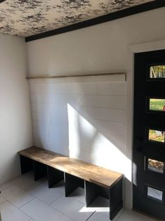 DIY Built In Bench for the Mudroom - Bright Green Door bench diy DIY Built In Bench for the Mudroom Mudroom Bench Plans, Door Bench, Wall Bench, Entry Bench Diy, Built In Bench, Bench With Storage, Sitting Bench, Bench Designs, Find Furniture