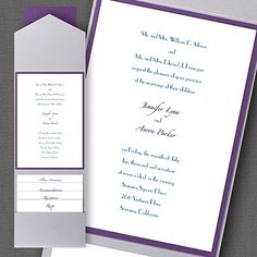 Timeless Elegance Layered Pocket Invitation - Wedding Invitation Ideas - Wedding Invites - Wedding Invitations - Create a FREE Proof Online - #weddings #wedding #invitations