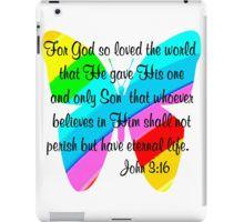 iPad Case/Skin http://www.redbubble.com/people/jlporiginals/collections/339351-scripture-verses  #John316 #GospelofJohn #john3quote  #John3scripture #ForGodsolovetheWorld #GospelofJohn #Jesussaves