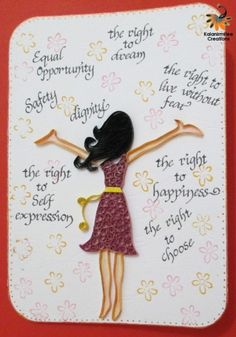 Happy women's Day card