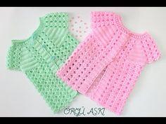 Water Stone Model Crocheted Seasonal Baby Vest // Years Old Baby Vest Crochet Baby Booties, Crochet Slippers, Knit Crochet, Muslim Evening Dresses, Moda Outfits, Crochet Table Runner, 5 Year Olds, Baby Knitting Patterns, Baby Dress