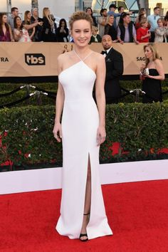 <p>Brie Larson, an outspoken advocate — especially on Instagram — could have possibly chosen a white dress for a political reason. (Photo: Getty Images) </p>