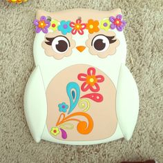Ipad Mini Owl Case Very cute owl ipad mini case, it is soft & flemsy not a hard case but still thick enough to protect it! Used once! Accessories Tablet Cases