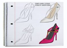 Commercial Footwear Designs by Nandita Maan, via Behance