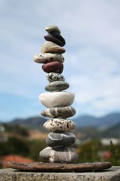 a stone stacking/balancing work would be fun!