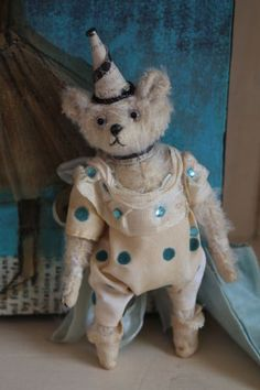 …artful heirloom teddy, this one-of-a-kind mohair creation by artist Letty Worley is available exclusively at http://www.earthangelsstudios.com/Letty-Worley--C56.aspx