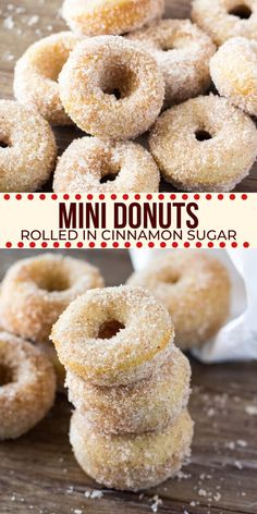 These homemade mini donuts are baked instead of fried and rolled in cinnamon sugar! Tastes even better than the ones from the fair! from Just So Tasty Baked Mini Donuts Recipe, Mini Donut Maker Recipes, Best Donut Recipe, Mini Doughnuts, Baked Donut Recipes, Fun Baking Recipes, Easy Donut Recipe For Kids, State Fair Mini Donut Recipe, Fried Doughnut Recipe