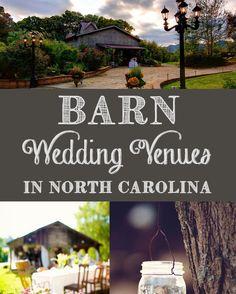 Find Barn Wedding Venues in North Carolina {ahandcraftedwedding.com