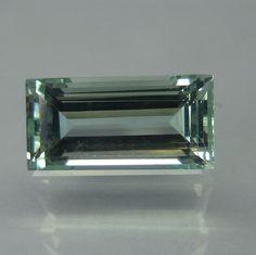 4.1 Carat 12.7x6.4x6 mm Natural Greenish-Blue Aquamarine Octagon Shape Cut Stone #Unbranded