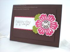 Stampin Up - Mixed Bunch: love how they've used some of the petals as leaves! Nice and simple design.