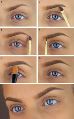 25 Step-by-Step Eyebrows Tutorials to Perfect Your Look Vos sourcils naturels, pleins ainsi que subtilement Eyebrow Makeup Tips, Heavy Makeup, Eyebrow Pencil, Eyeshadow Makeup, Makeup Steps, Eyebrow Wax, Eyebrow Sculpting, Eyebrow Trimmer, Eyebrow Tinting