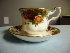 Royal Albert Bone China Tea Cup and Saucer - Old Country Roses. I've been super obsessed with tea cups of late. #teacup #eBay