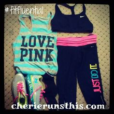 A sample running outfit {I'm a brand mixer sometimes!}